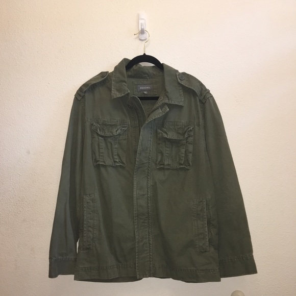 Men's Army Green military style lined